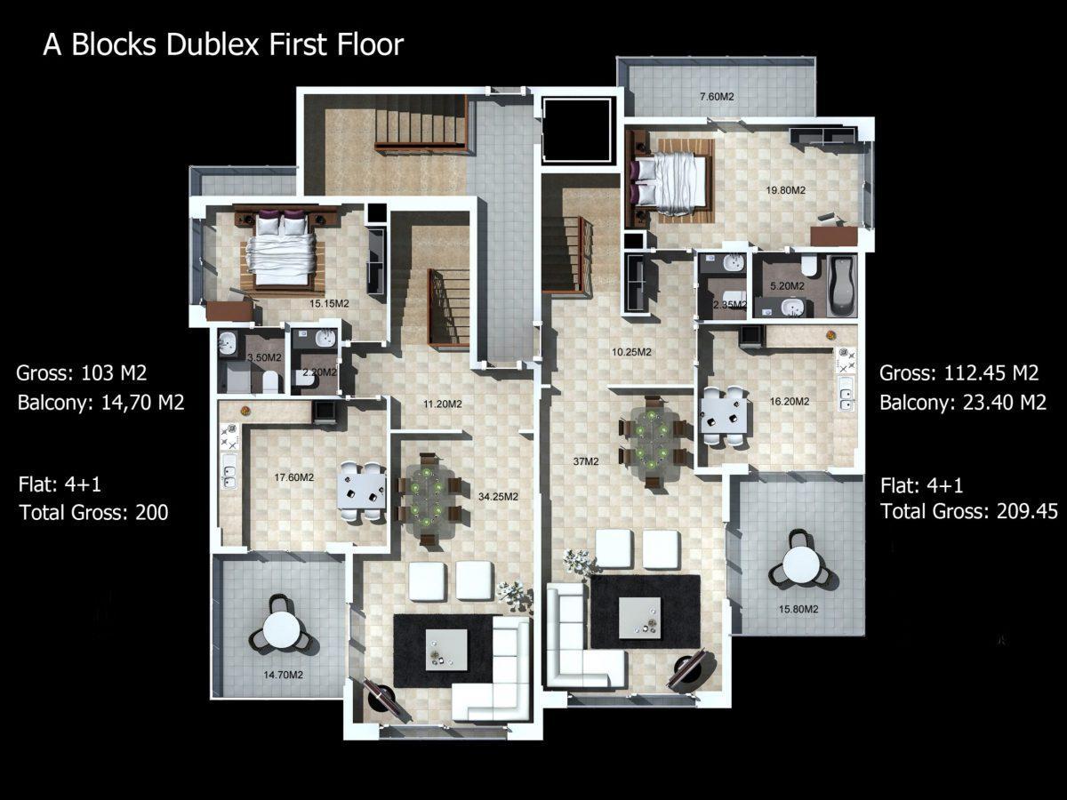 Многофункциональный комплекс апартаментов и вилл класса люкс в районе Каргыджак  - Фото 23