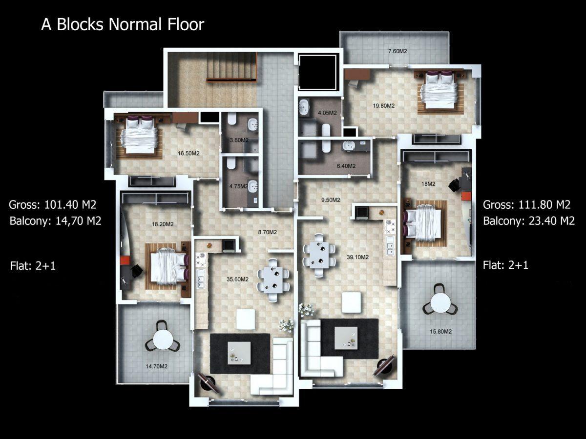 Многофункциональный комплекс апартаментов и вилл класса люкс в районе Каргыджак  - Фото 24