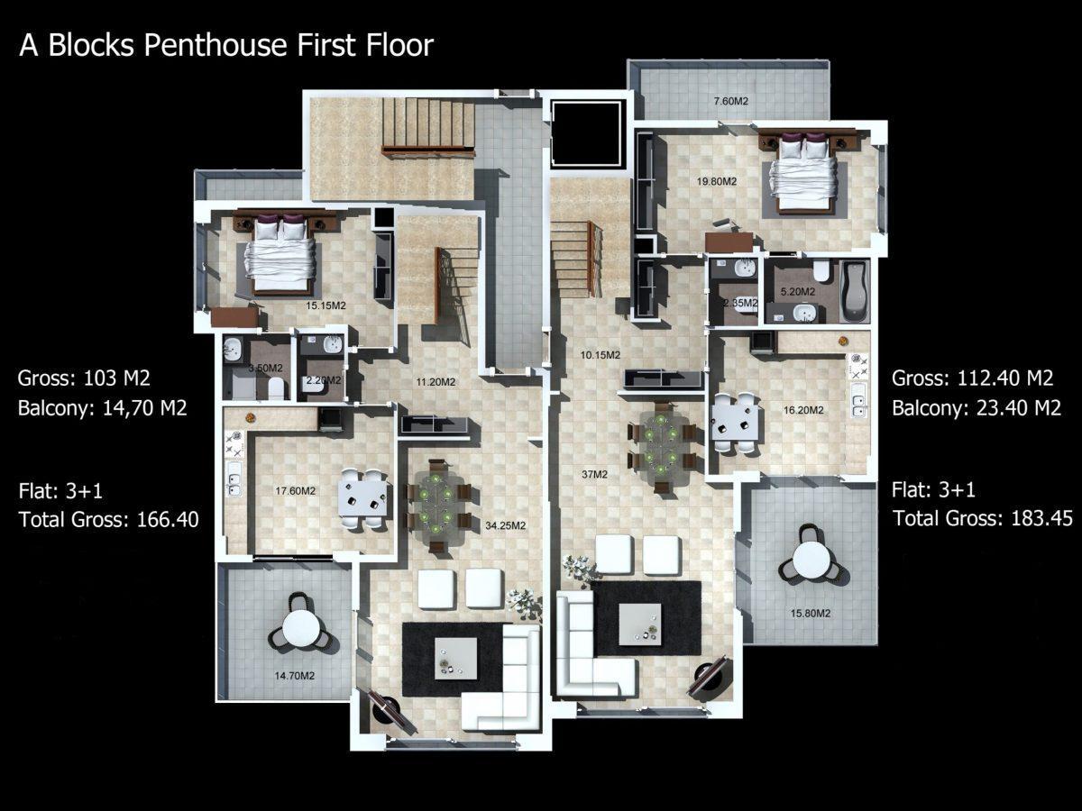 Многофункциональный комплекс апартаментов и вилл класса люкс в районе Каргыджак  - Фото 25