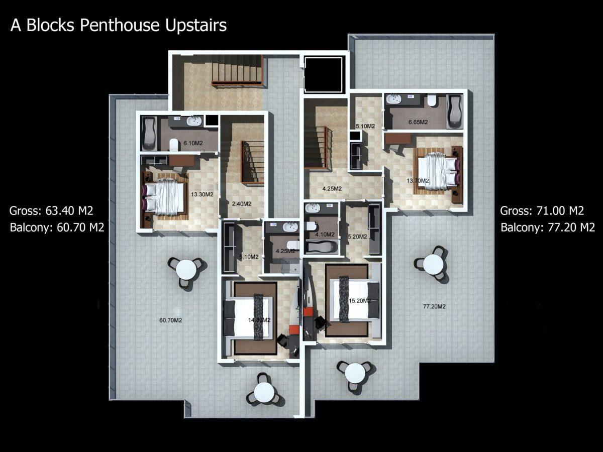 Многофункциональный комплекс апартаментов и вилл класса люкс в районе Каргыджак  - Фото 26