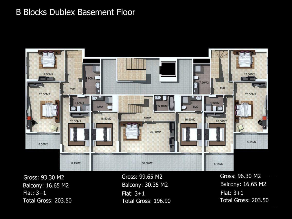 Многофункциональный комплекс апартаментов и вилл класса люкс в районе Каргыджак  - Фото 27