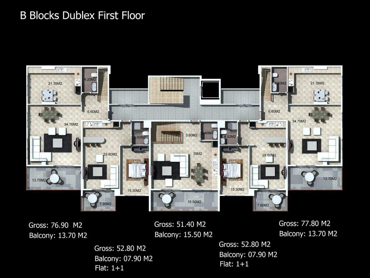 Многофункциональный комплекс апартаментов и вилл класса люкс в районе Каргыджак  - Фото 28