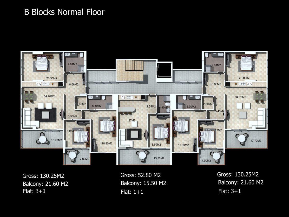 Многофункциональный комплекс апартаментов и вилл класса люкс в районе Каргыджак  - Фото 29