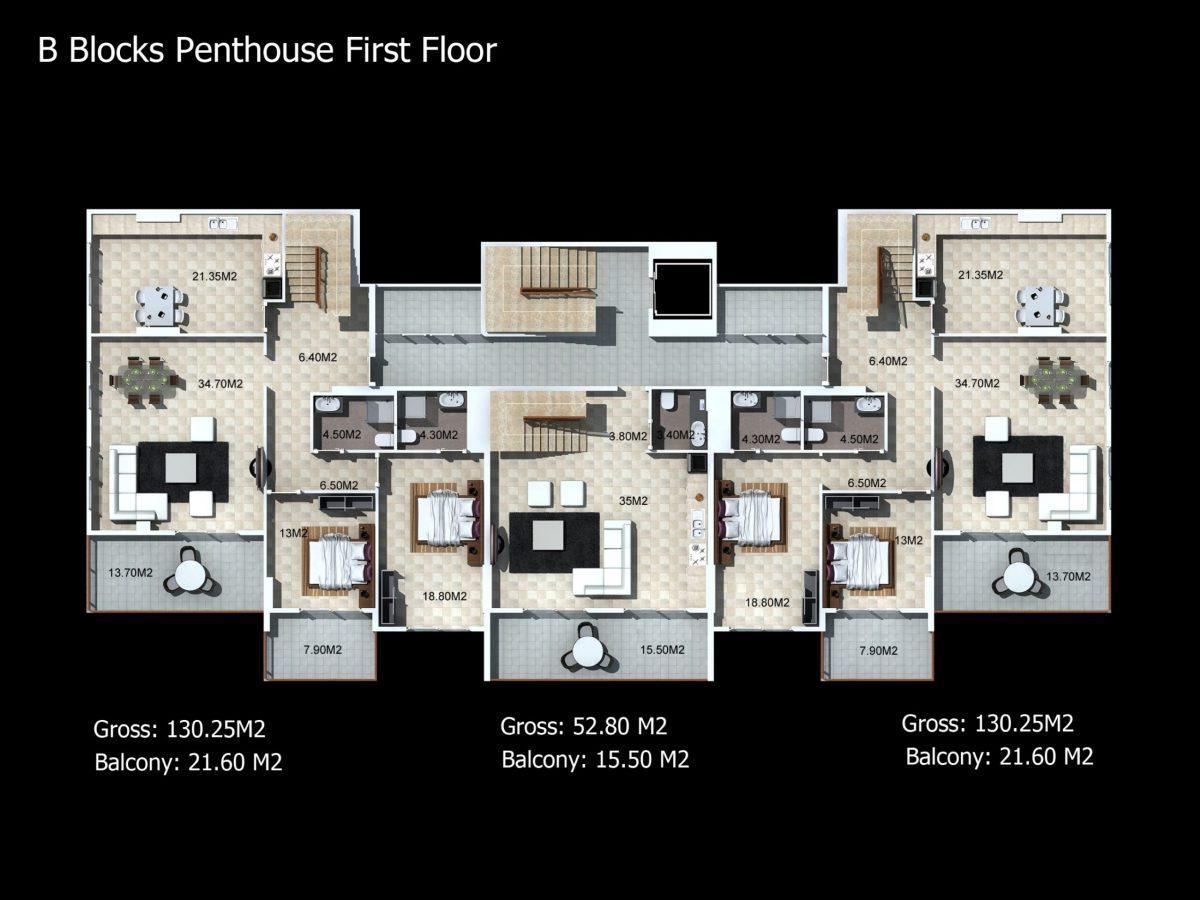 Многофункциональный комплекс апартаментов и вилл класса люкс в районе Каргыджак  - Фото 30