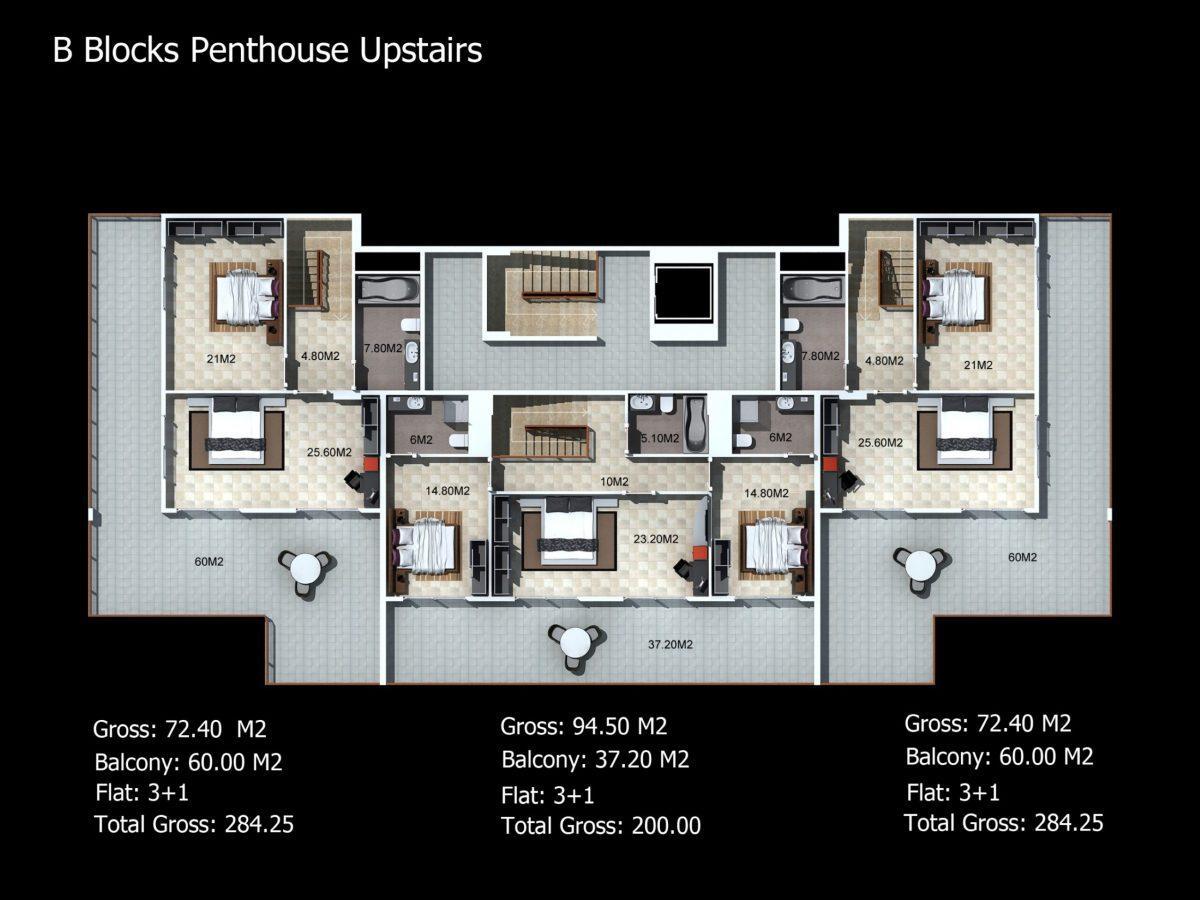 Многофункциональный комплекс апартаментов и вилл класса люкс в районе Каргыджак  - Фото 31
