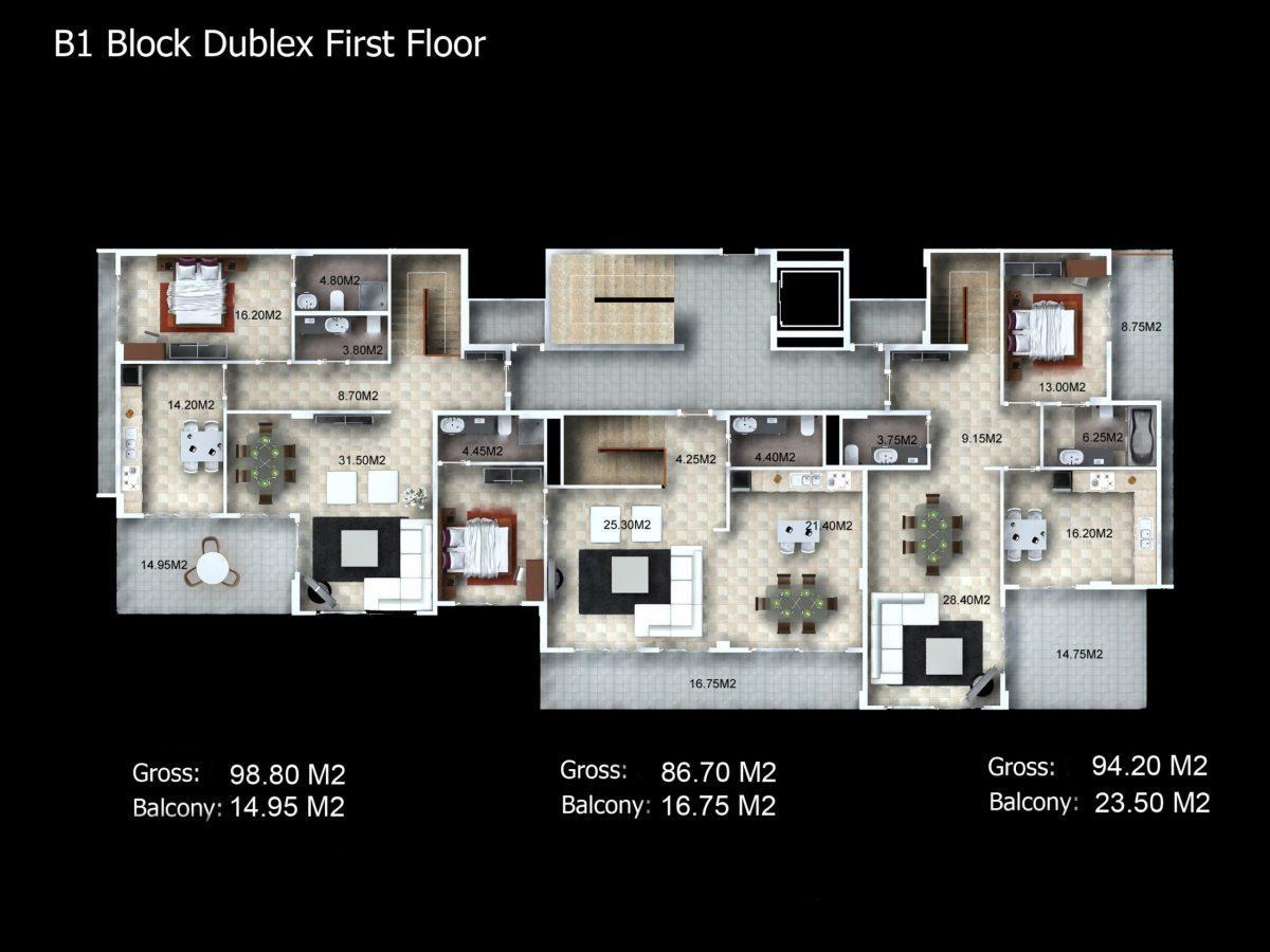 Многофункциональный комплекс апартаментов и вилл класса люкс в районе Каргыджак  - Фото 33