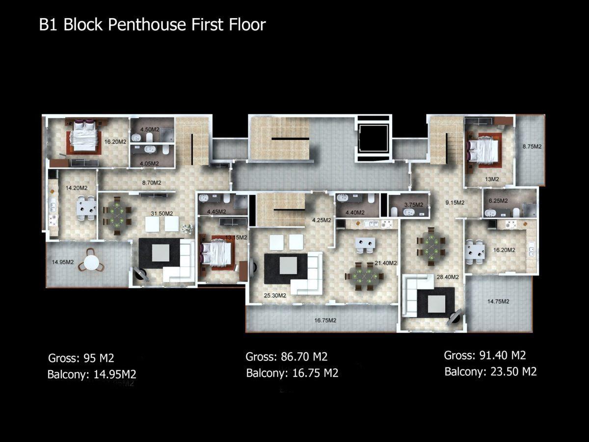 Многофункциональный комплекс апартаментов и вилл класса люкс в районе Каргыджак  - Фото 35