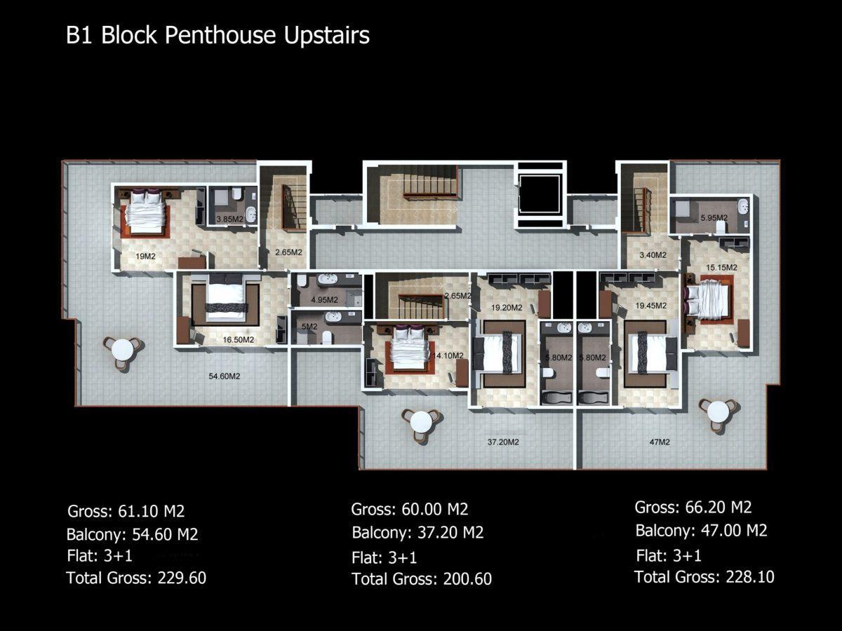 Многофункциональный комплекс апартаментов и вилл класса люкс в районе Каргыджак  - Фото 36