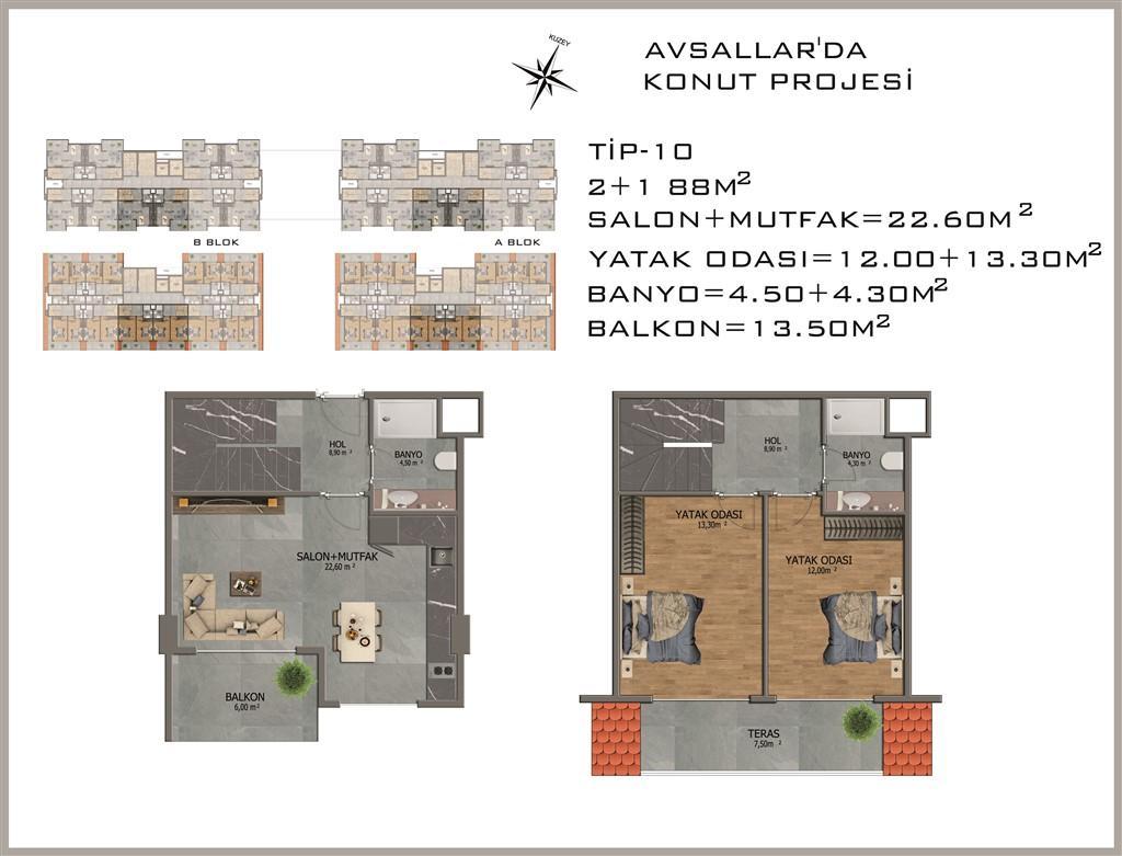 Новый жилой комплекс в районе Авсалар - Фото 34