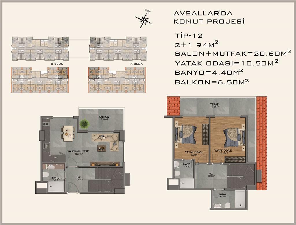 Новый жилой комплекс в районе Авсалар - Фото 36