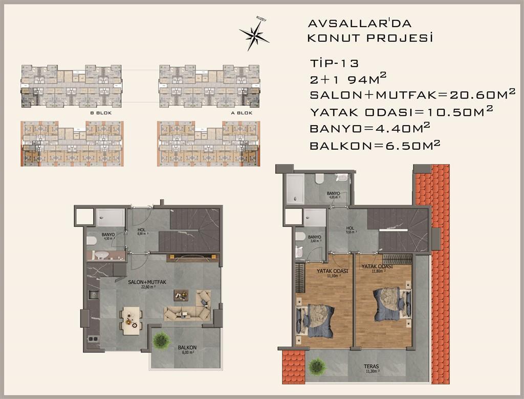 Новый жилой комплекс в районе Авсалар - Фото 37