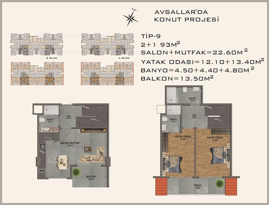 Новый жилой комплекс в районе Авсалар - Фото 33