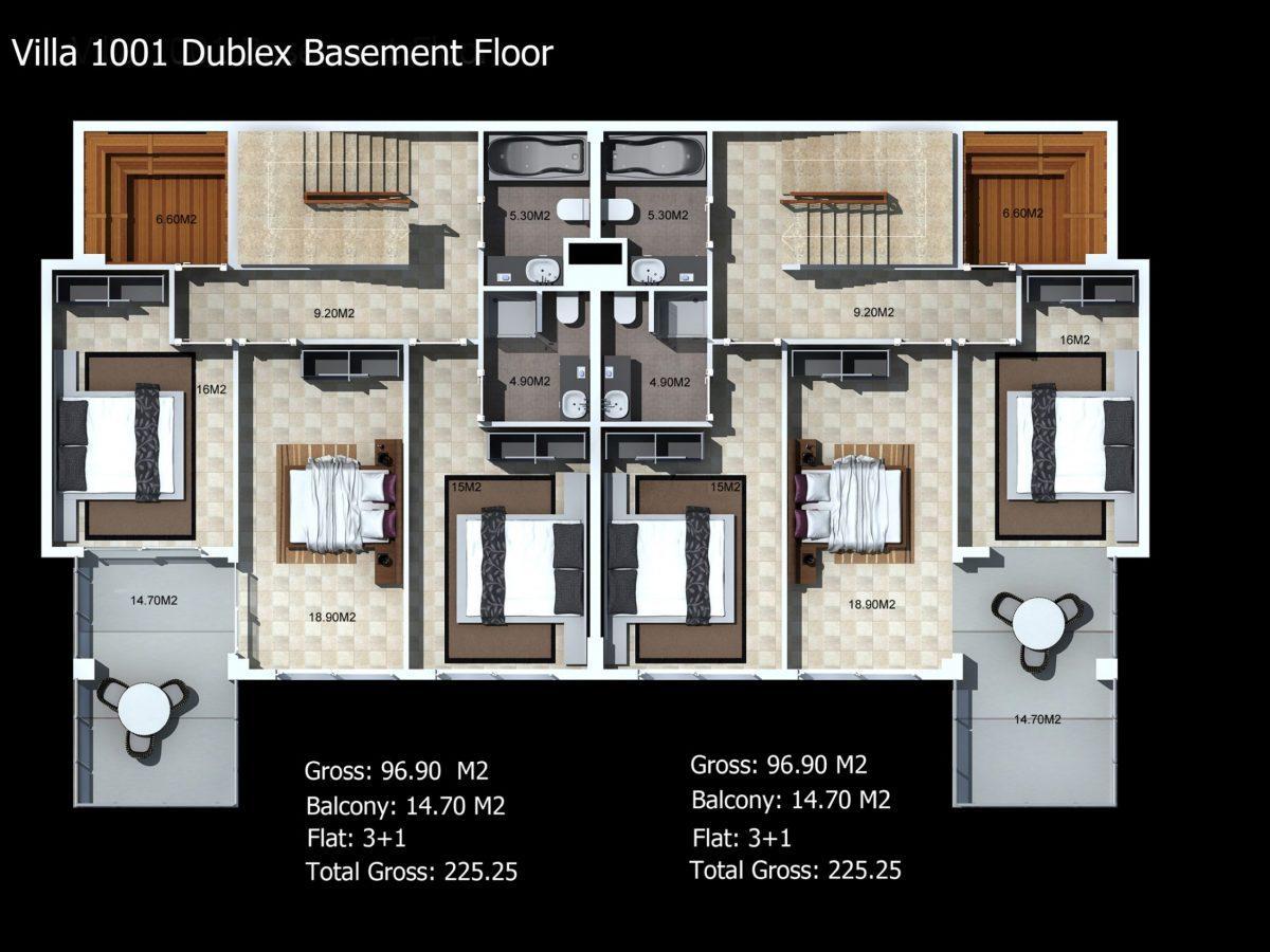 Многофункциональный комплекс апартаментов и вилл класса люкс в районе Каргыджак  - Фото 44