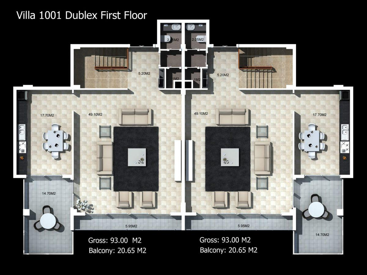 Многофункциональный комплекс апартаментов и вилл класса люкс в районе Каргыджак  - Фото 45