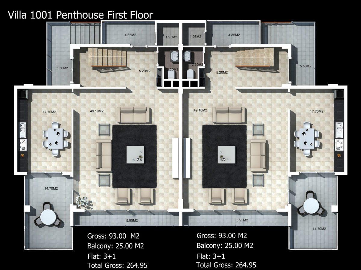Многофункциональный комплекс апартаментов и вилл класса люкс в районе Каргыджак  - Фото 46