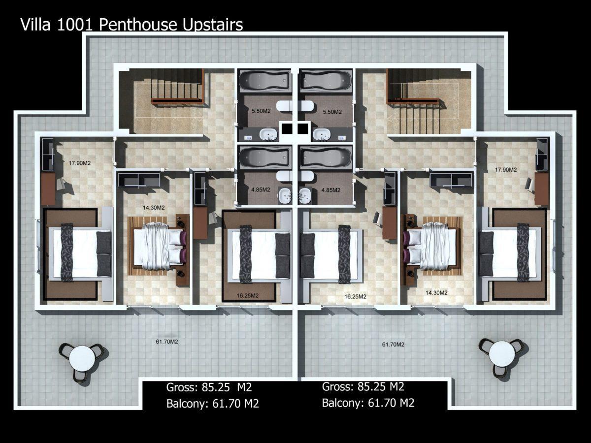 Многофункциональный комплекс апартаментов и вилл класса люкс в районе Каргыджак  - Фото 47