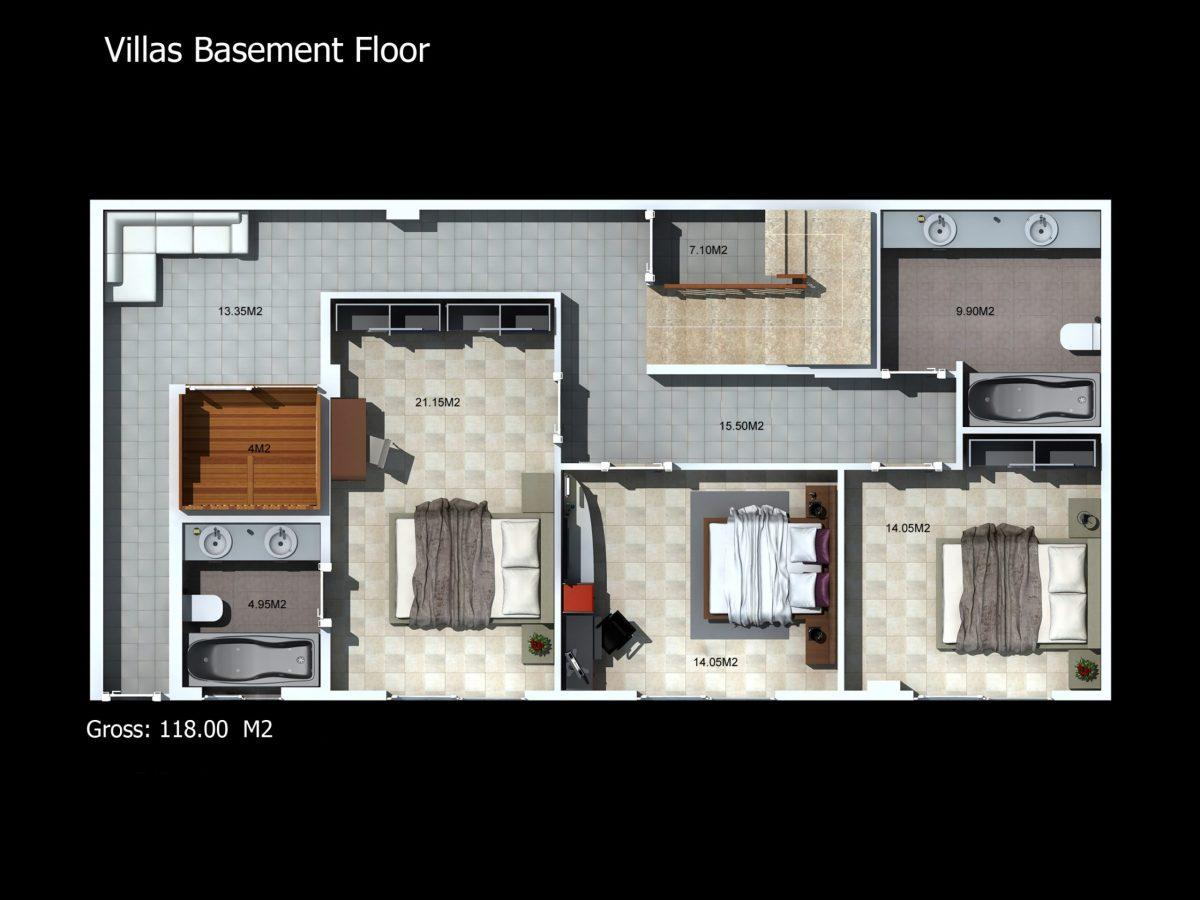 Многофункциональный комплекс апартаментов и вилл класса люкс в районе Каргыджак  - Фото 48