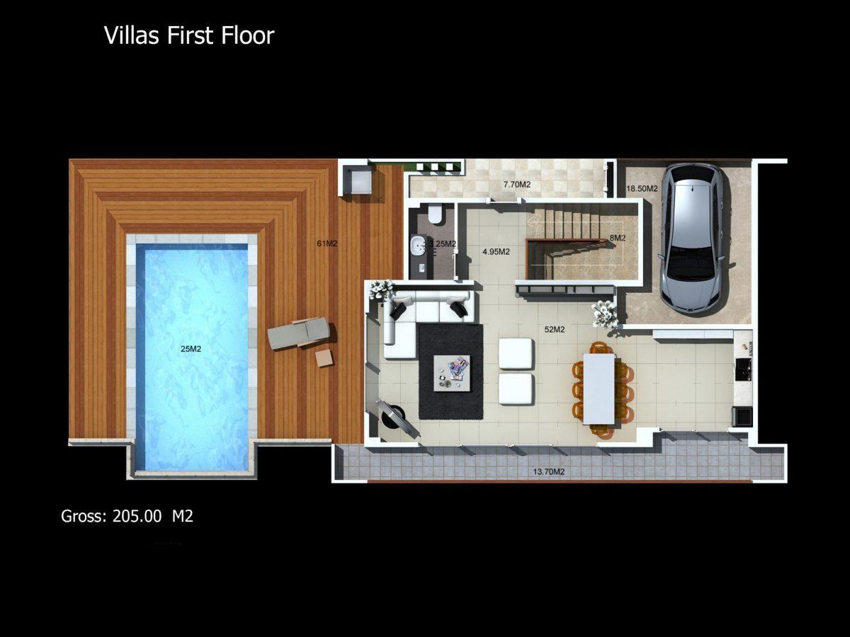 Многофункциональный комплекс апартаментов и вилл класса люкс в районе Каргыджак  - Фото 49