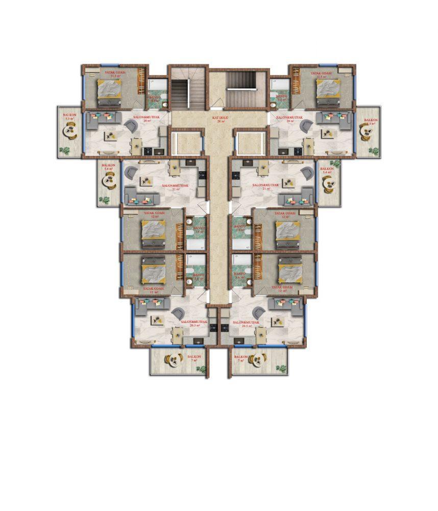 Последняя квартира в строящемся комплексе от застройщика в Авсалларе - Фото 21