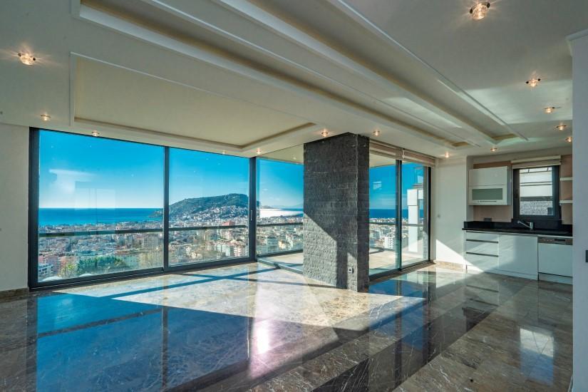 Видовая квартира 2+1 в комплексе люкс в Алании рядом со смотровой площадкой - Фото 1