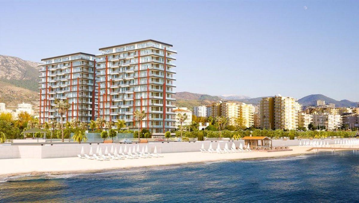 Новая квартира 2+1 на первой береговой линии в Махмутларе - Фото 1