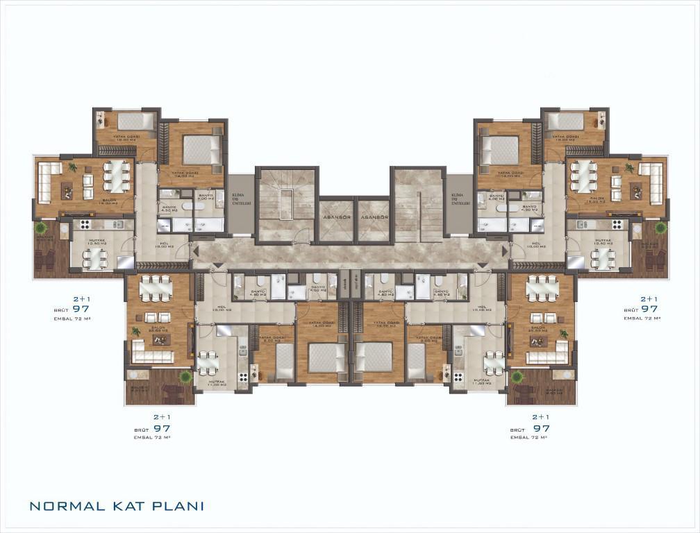Новый проект жилого комплекса в Авсалларе - Фото 22