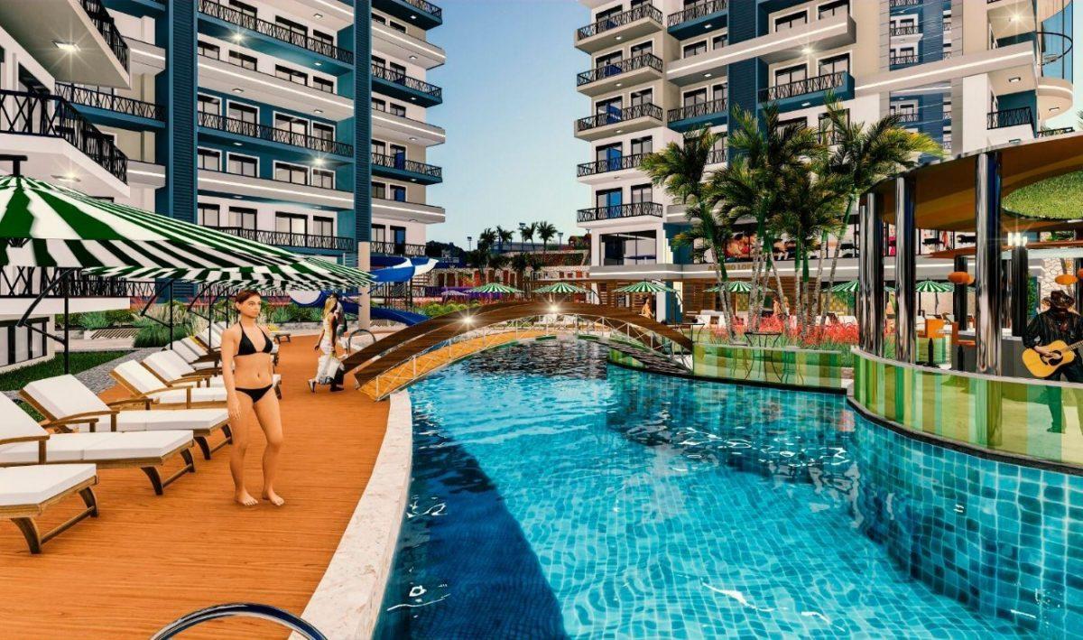 Апартаменты 1+1 в строящемся комплексе в Махмутларе - Фото 5