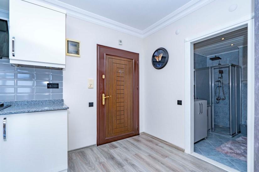 Двухкомнатные апартаменты на высоком этаже в центре Алании - Фото 12
