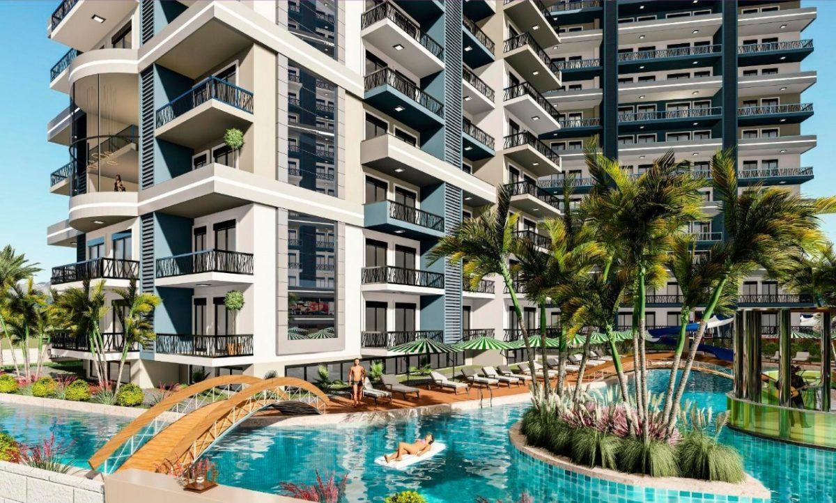 Апартаменты 1+1 в строящемся комплексе в Махмутларе - Фото 4