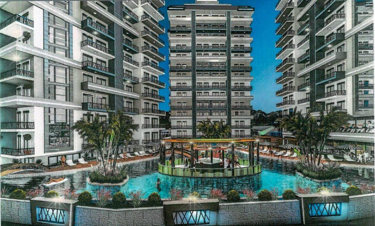 Апартаменты 1+1 в строящемся комплексе в Махмутларе - Фото 2