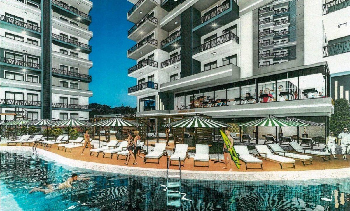 Апартаменты 1+1 в строящемся комплексе в Махмутларе - Фото 3
