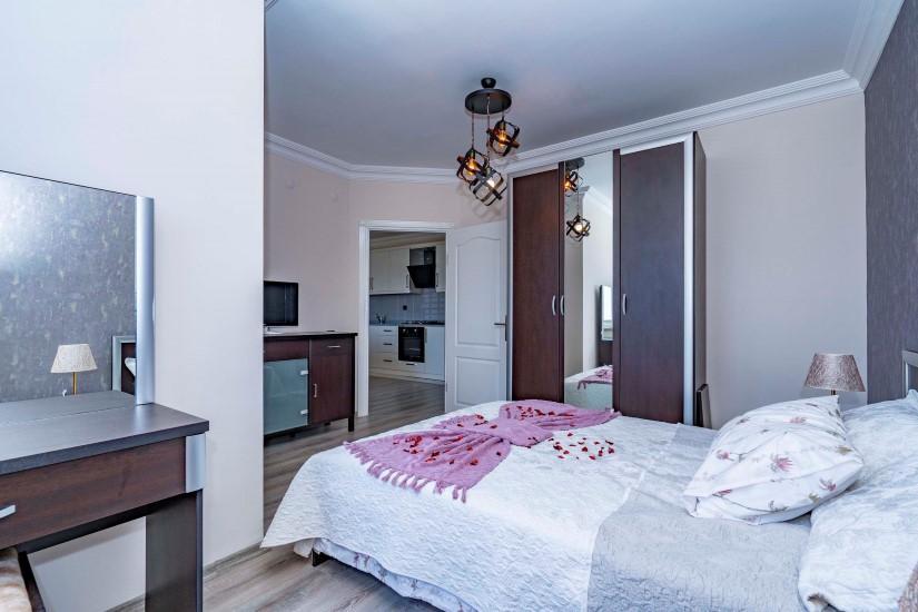 Двухкомнатные апартаменты на высоком этаже в центре Алании - Фото 18
