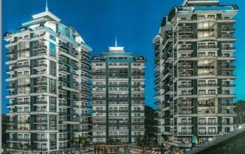 Апартаменты 1+1 в строящемся комплексе в Махмутларе