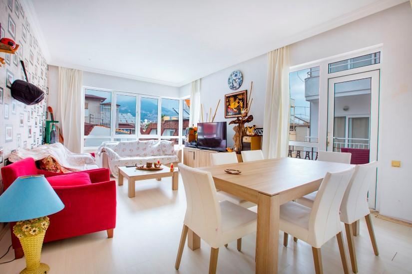 Трехкомнатная квартира в центре Алании рядом с пляжем Клеопатра - Фото 18