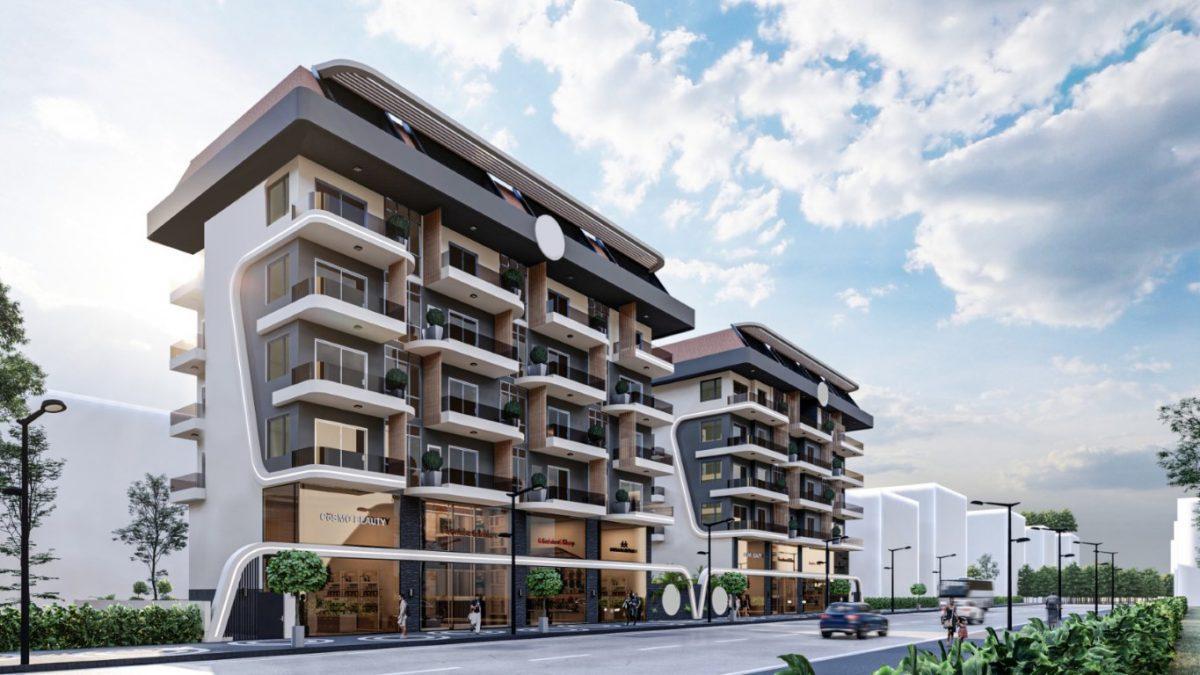 Новый бюджетный комплекс в Махмутларе 550 метров до моря - Фото 1