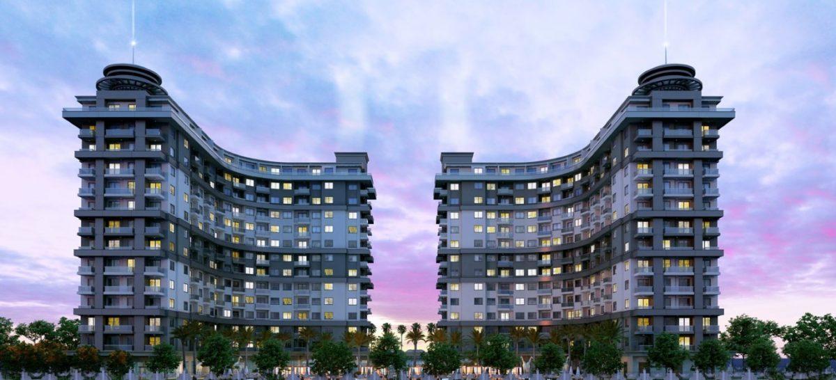Новые апартаменты 1+1 в Махмутларе - Фото 3