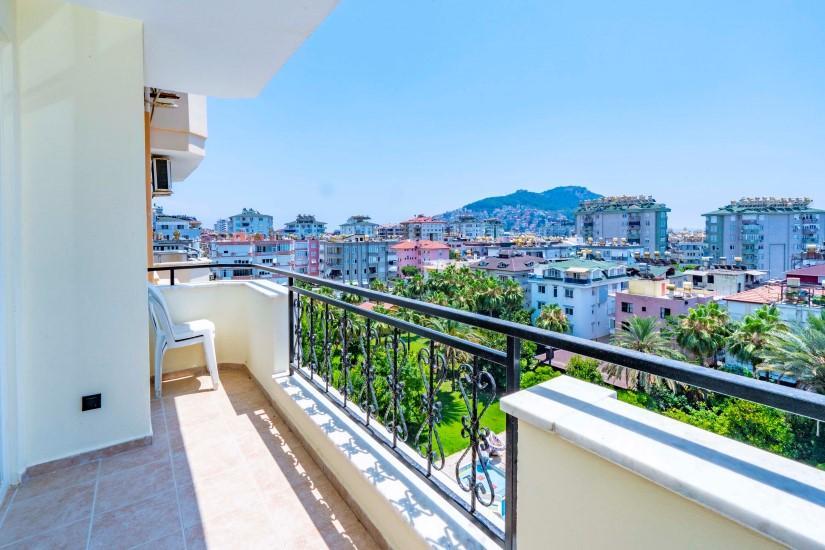 Двухкомнатные апартаменты на высоком этаже в центре Алании - Фото 21
