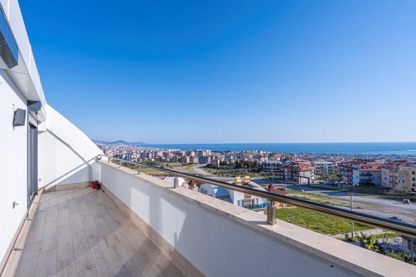 Дуплекс 5+1 в Алании с видом на море - Фото 1