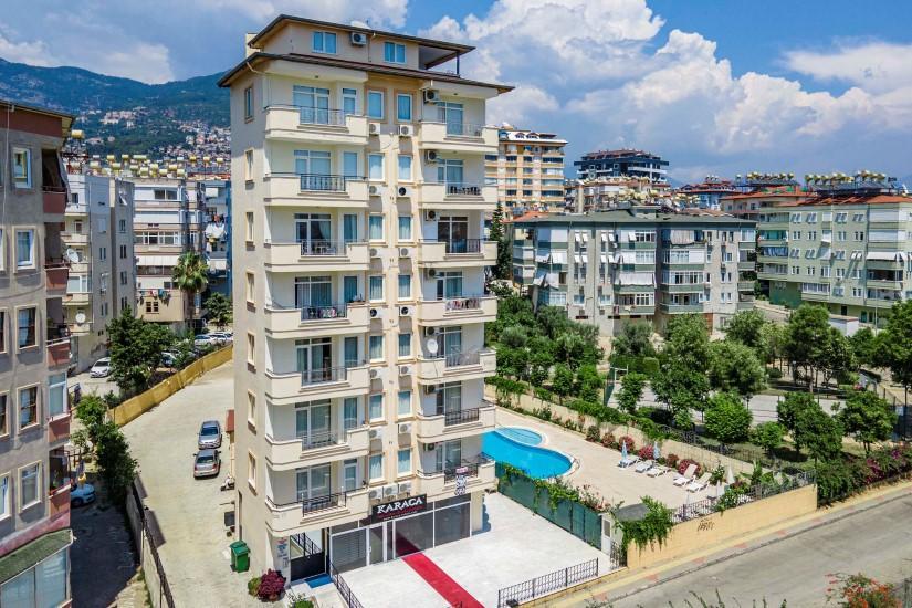 Двухкомнатные апартаменты на высоком этаже в центре Алании - Фото 2
