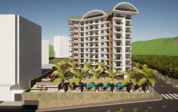 Новый бюджетный комплекс в Махмутларе с видом на море