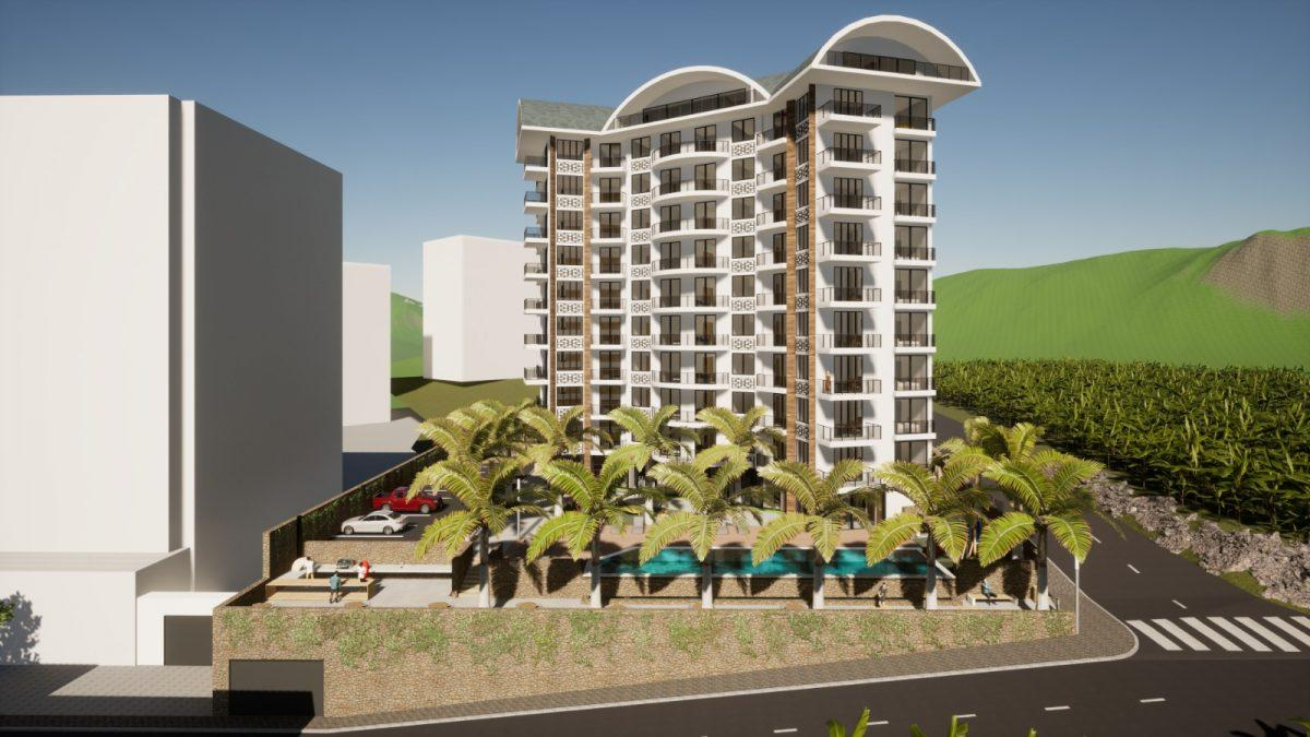 Новый бюджетный комплекс в Махмутларе с видом на море - Фото 1