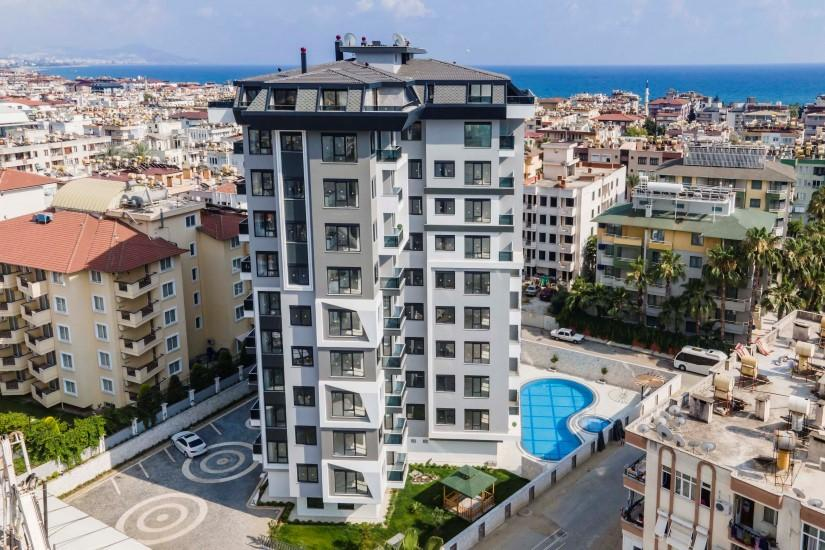 Новая квартира 2+1 в комплексе люкс в центре Алании - Фото 1