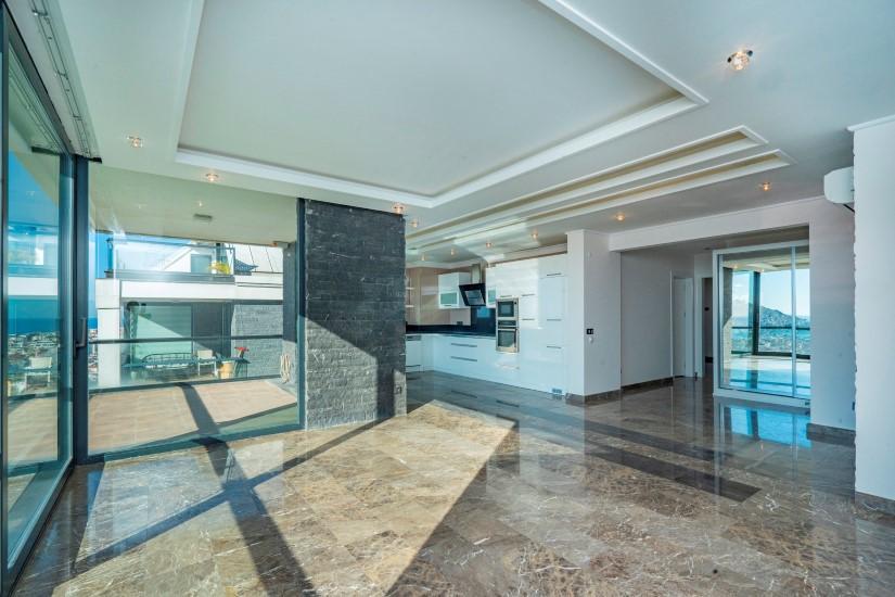 Видовая квартира 2+1 в комплексе люкс в Алании рядом со смотровой площадкой - Фото 3