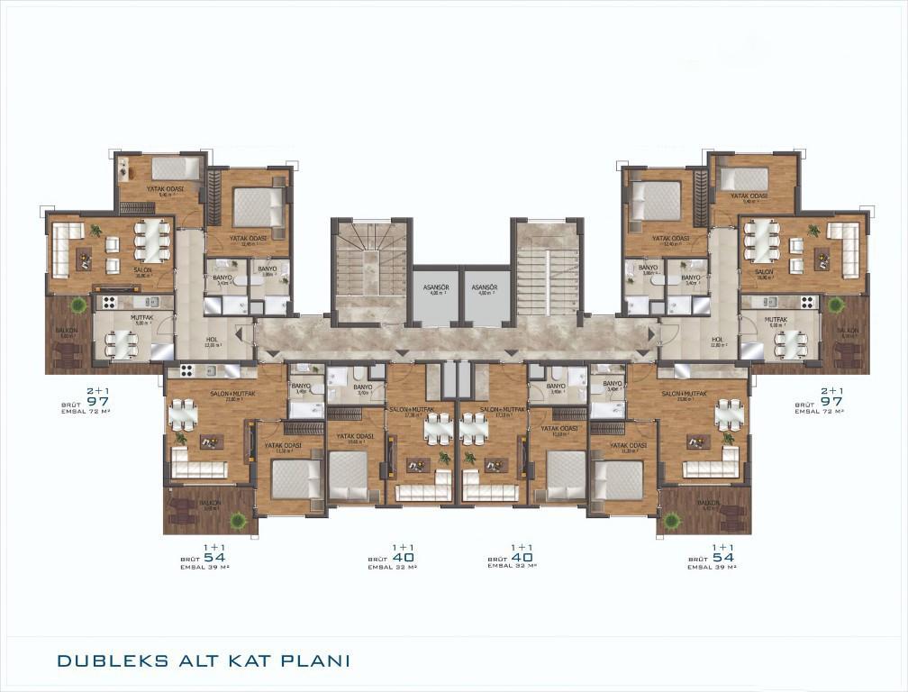 Новый проект жилого комплекса в Авсалларе - Фото 25