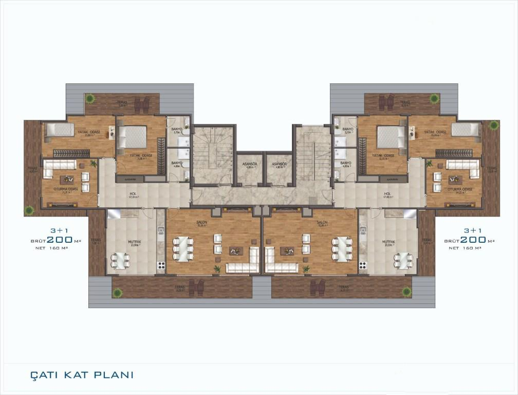 Новый проект жилого комплекса в Авсалларе - Фото 24