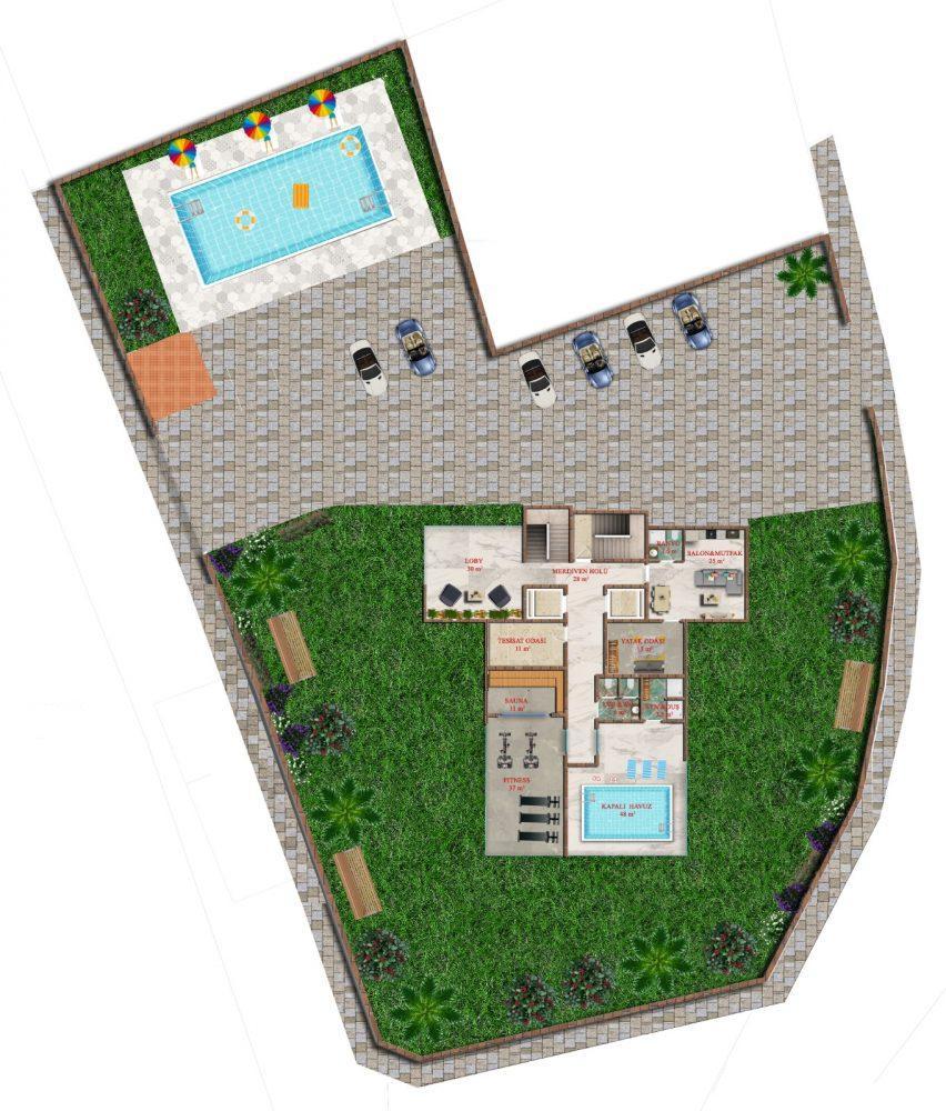 Последняя квартира в строящемся комплексе от застройщика в Авсалларе - Фото 20