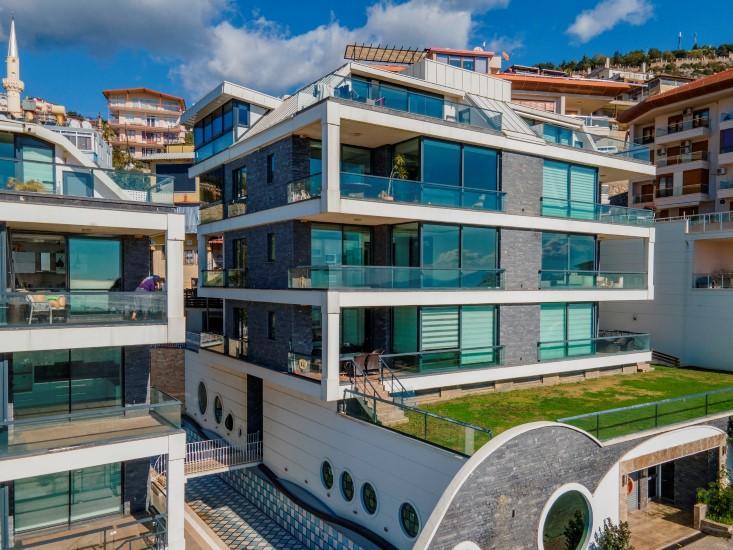 Видовая квартира 2+1 в комплексе люкс в Алании рядом со смотровой площадкой - Фото 18