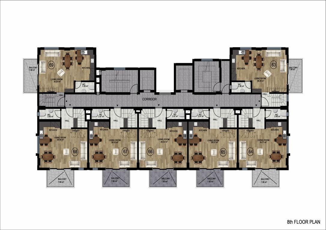 Новый инвестиционный проект на начальном этапе строительства  в районе Демирташ - Фото 25