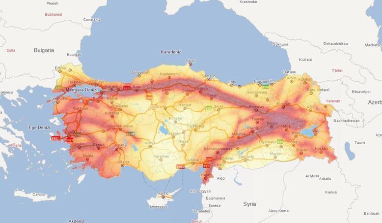 В Турции подготовили карту землетрясений