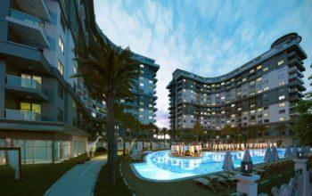 Апартаменты 1+1 в новом ЖК в Махмутларе по привлекательной цене